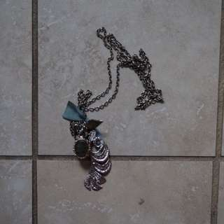 Hand made feather necklace