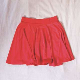 Red Skaters Skirt