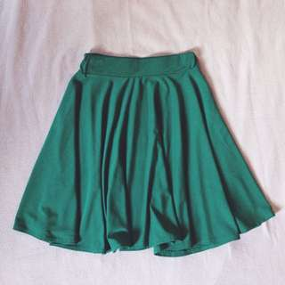 Green Skaters Skirt