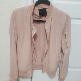 Light Pink Zara Bomber Jacket