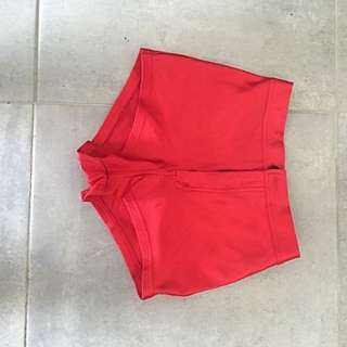 Red Hot Pants High Waisted