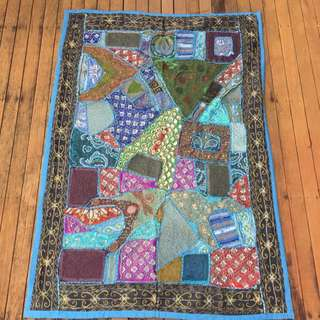 Antique Hand Embroidered Rug