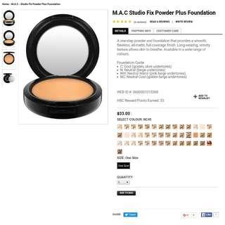 MAC Studio Fix Foundation - NC45