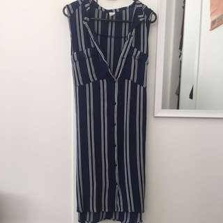 Button Up Knee Length Dress