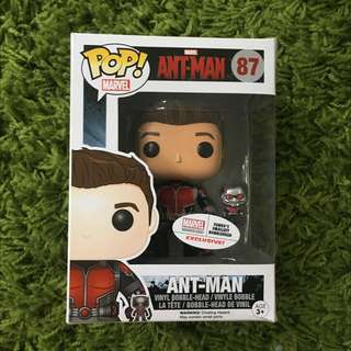 Exclusive Funko Pop Vinyl Ant Man Unmasked Plus Mini