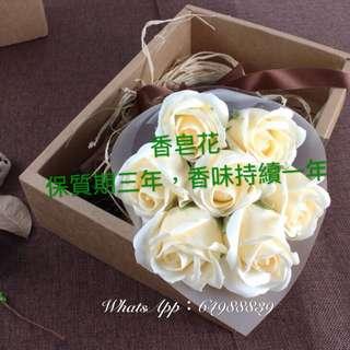 白色情人玫瑰香皂花