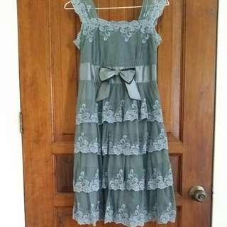 Grey Lace Dress