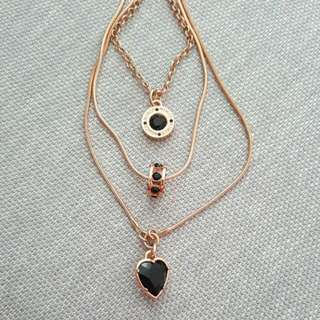Mimco 3-Piece Rose Gold Necklace