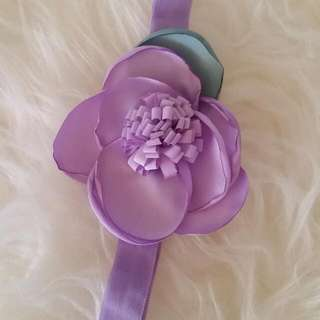 New Handmade Purple Flower Headband