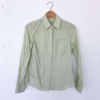 Sportscraft Oxford Shirt (Green stripes)