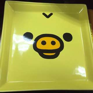 小雞大臉陶瓷方盤