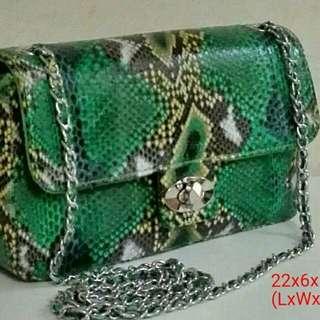 Geniune Python Skin Leather Bag