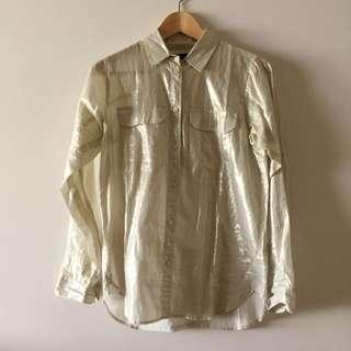 JCrew Soft Gold Shirt