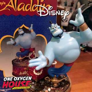 🚚 絕版 迪士尼 阿拉丁 神燈 旋轉 音樂盒 公仔 玩具 精靈 老玩具