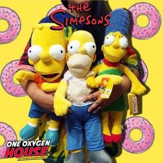 🚚 美版 The Simpsons 辛普森 荷馬 霸子 美枝 娃娃 玩偶 大號 公仔 玩具 絨毛 擺件 辛普森一家