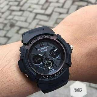 Jam Tangan Pria Sport / Cowok Casio G-Shock Gshock M -200 Full Black