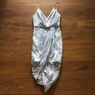 Zimmermann Seed Plunge Drape Dress