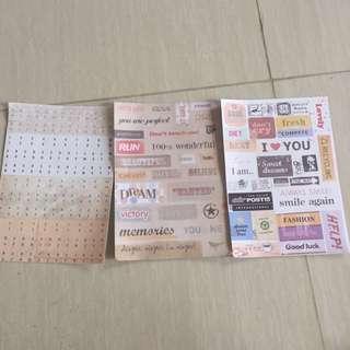 sticker kertas  ( bahan prakarya / scrapbook)