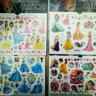 New Disney Princess Children Temporary Tattoo