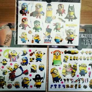New Despicable Me Children Temporary Tattoo