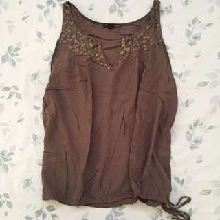 F21 Olive Green Top