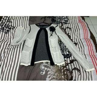 IROO黑白針織外套