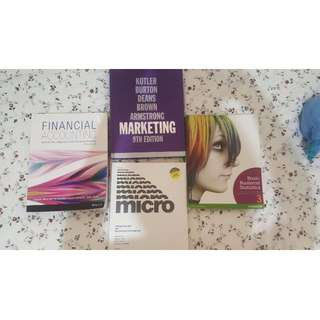 Textbooks for Business Degree or Diploma of Business