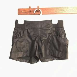 Leather Bardot Shorts