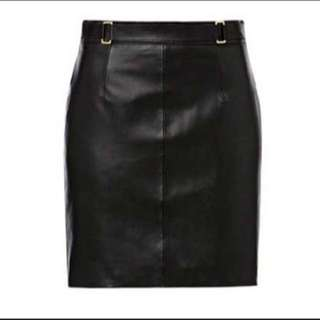 Seed Leather Skirt