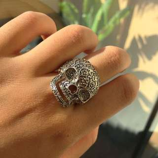 Decorated Skull Ring