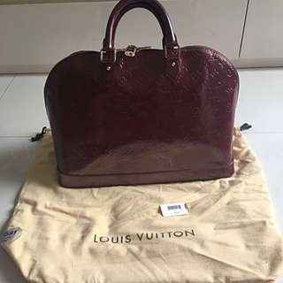 louis vuitton alma GM violette - 100% Authentic