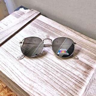 🇺🇸美國UO同步 Polaroid UV Round Metal Sunglasses 復古銀色偏光太陽眼鏡