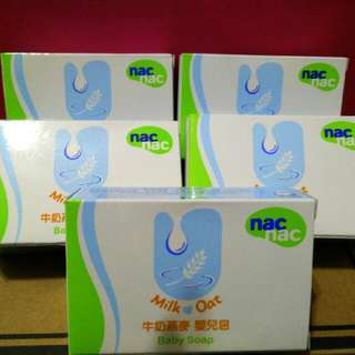 Nac Nac牛奶燕麥嬰兒肥皂