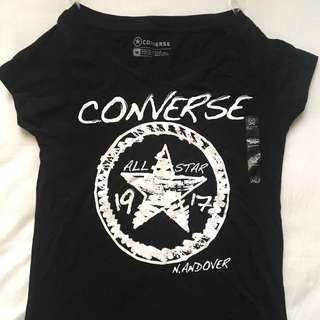 Converse black and white logo tee