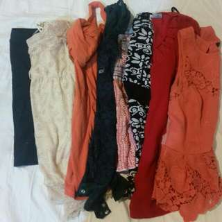 Bulk Lot Of Tops