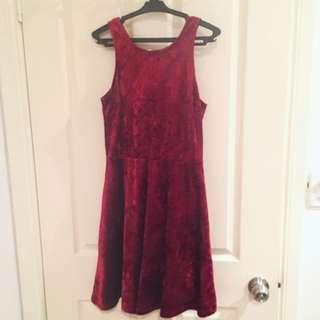 Jay Jays Red Velvet Dress