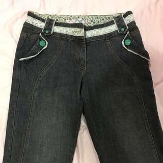 低腰 牛仔褲 S號