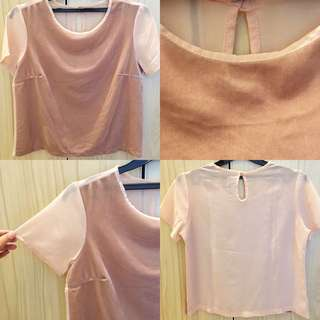 Pink Salmon Nude Velvet Shirt (TREND!)