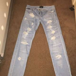 Bardot Light Wash Distressed Jeans