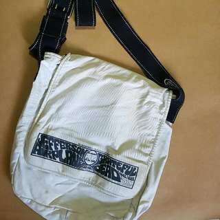 American Boulevard White Canvas Sling Bag