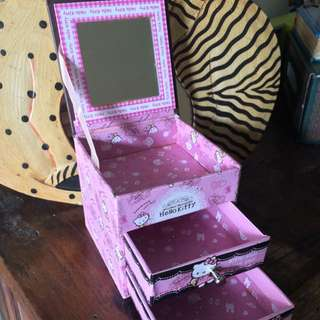Jewelry Jewellery Box Kotak Perhiasan Hello Kitty