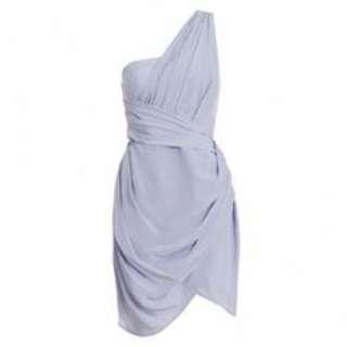 Zimmermann Silk One Shoulder Dress in Thistle (size 2)