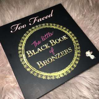 TOO FACED LIMITED EDITION The little black Book of Bronzers