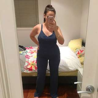Indigo Blue Long Jumpsuit