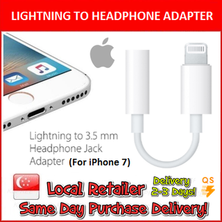 Lightning to 3.5mm Headphone Jack Adapter  ( Apple ) for iphone 7