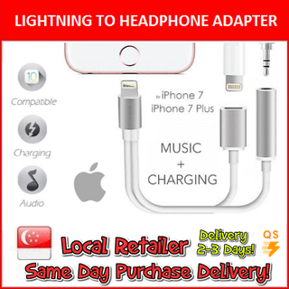 Lightning to 3.5mm Headphone Multi Adapter ( Apple ) iPhone 7