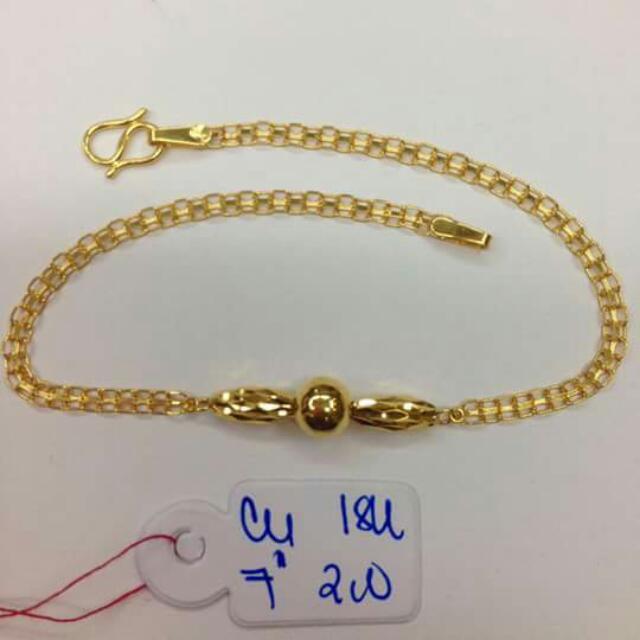 18k Saudi Gold Bracelet 100%genuine Pawnable/nasasangla