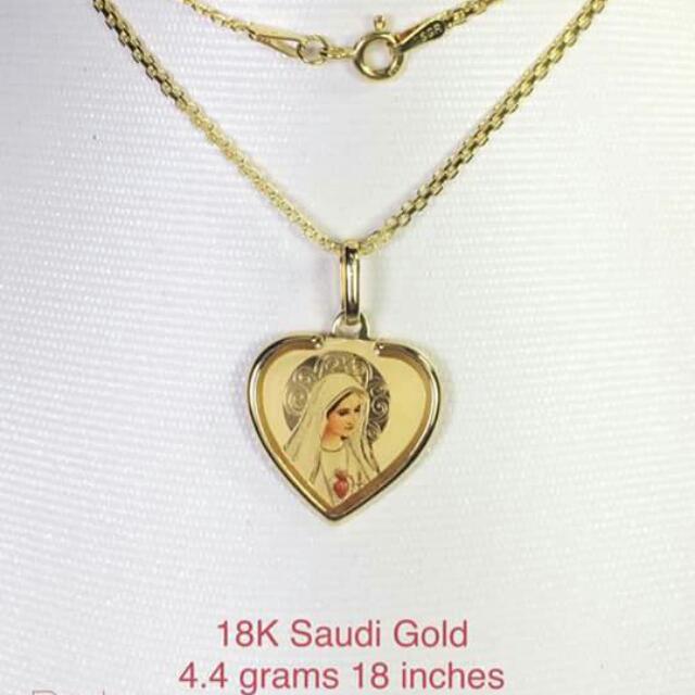 18k Saudi Gold Necklace And Pendant 100%genuine Pawnable/nasasangla