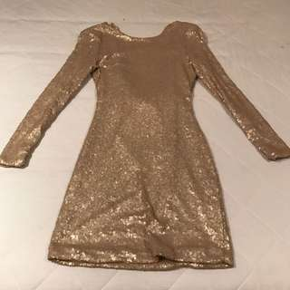 Gold Sequinned Dress