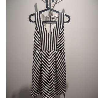 Tokito: Black and White midi dress (size 10)